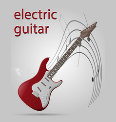 Electric guitar musical instruments stock vector