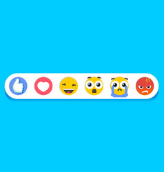 Eps cheerful emoticons vector