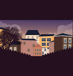 europe style home residential in village town vector image vector image