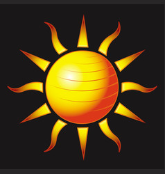 fitness sun vector image vector image