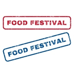 Food festival rubber stamps vector