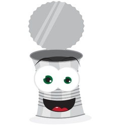 Funny crazy can vector