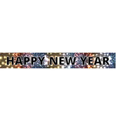 horizontal web banner with fireworks vector image vector image
