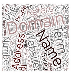 How important are domain names text background vector