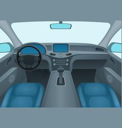 inside car or auto interior vector image