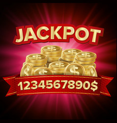 Jackpot casino background for luck money vector