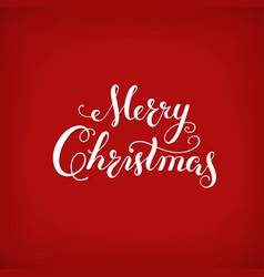 merry christmas calligraphy lettering creative vector image vector image