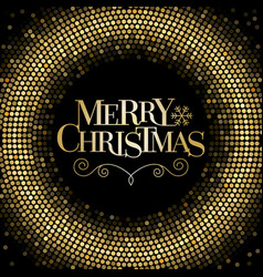 merry christmas letters with glitter background vector image