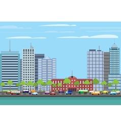 Modern buildings cityscape vector image