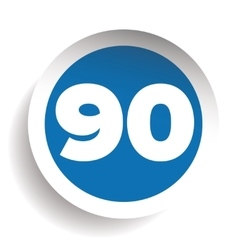 Number ninety icon vector