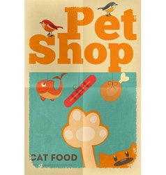 pet shop poster cat vector image