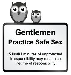 Practice safe sex vector image