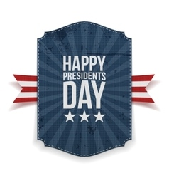 Presidents day big realistic banner template vector
