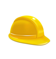 realistic yellow helmet or hat vector image