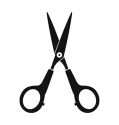 Scissors black simple icon vector