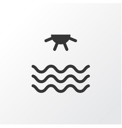 Sea icon symbol premium quality isolated sunrise vector