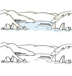Seaside landscape vector image