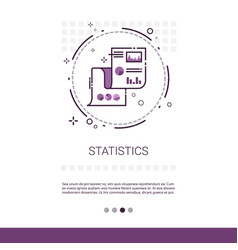 statistics analysis concept finance diagram data vector image