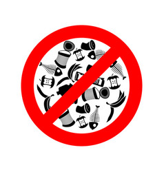 stop littering ban garbage it is forbidden to vector image vector image