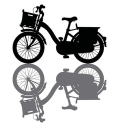 The black silhouette of a bicycle vector