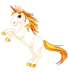 unicorn vector image