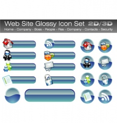 web site glossy buttons vector image vector image