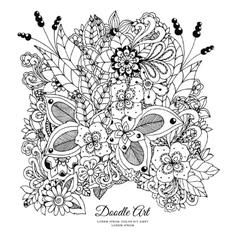 Zentnagl floral frame doodle vector