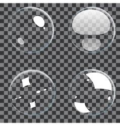 Set of transparent bubbles vector image