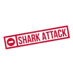 Shark attack rubber stamp vector