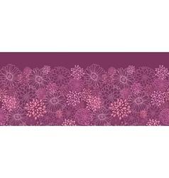 Purple field flowers horizontal seamless pattern vector image
