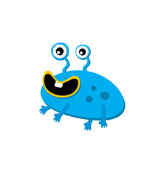 cute adorable ugly scary funny mascot monster vector image