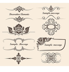 design elements and page decoration vector image
