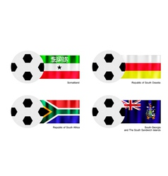 Football with Somaliland South Ossetia Flag vector image