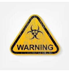 Radiation warning sign vector