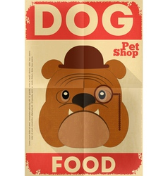 pet shop poster bulldog vector image