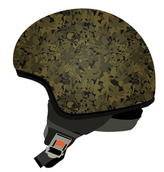 Green military helmet vector