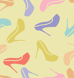 Woman shoes pattern seamless vector