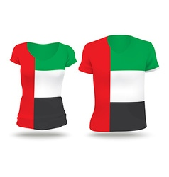 Flag shirt design of united arab emirates vector
