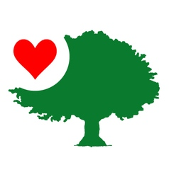 Nature love tree symbol vector