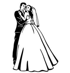 Bridal couple vector