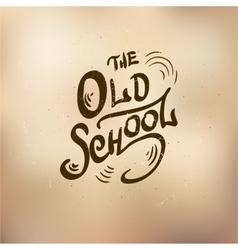 old schol vector image