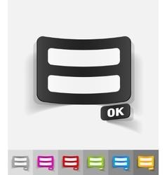 realistic design element login form vector image