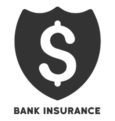 Bank insurance icon with caption vector