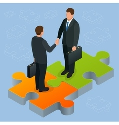 Business and finance concept handshake isometric vector
