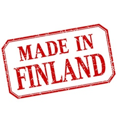 Finland - made in red vintage isolated label vector