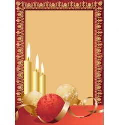 Scroll candles border vector