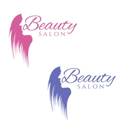 Conceptual logo silhouette of a woman with hair vector