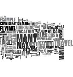 Air travel is it right for you text word cloud vector