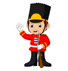 British guardsman cartoon vector