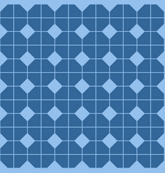 checkered tile pattern blue floor or pastel vector image vector image